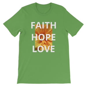 Short-Sleeve Unisex T-Shirt, Faith Hope Love Shirt