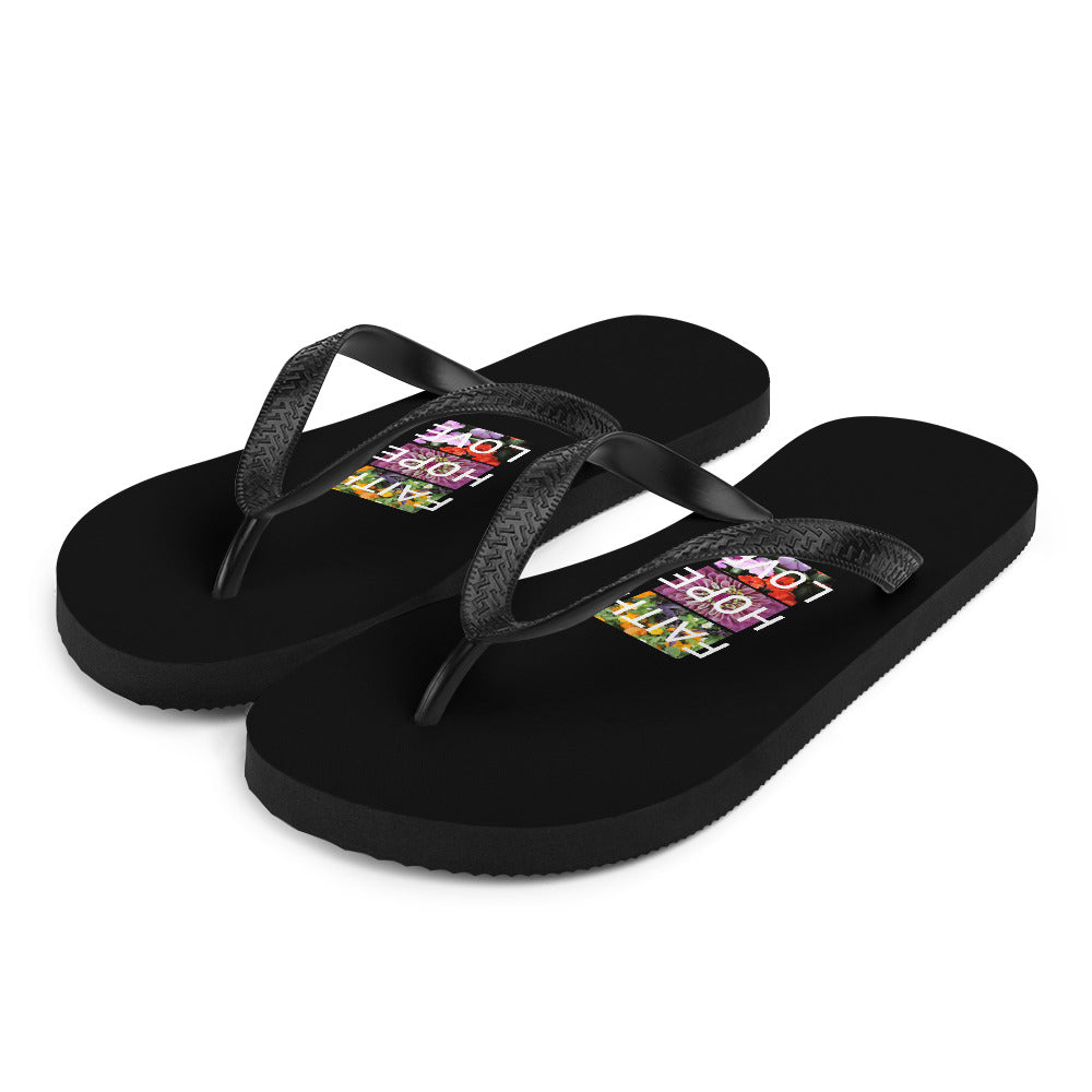 Faith Hope Love Flip Flops