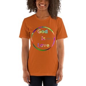 God is Love Shirt, 1 John 4:8 Scripture. Short-Sleeve Unisex T-Shirt