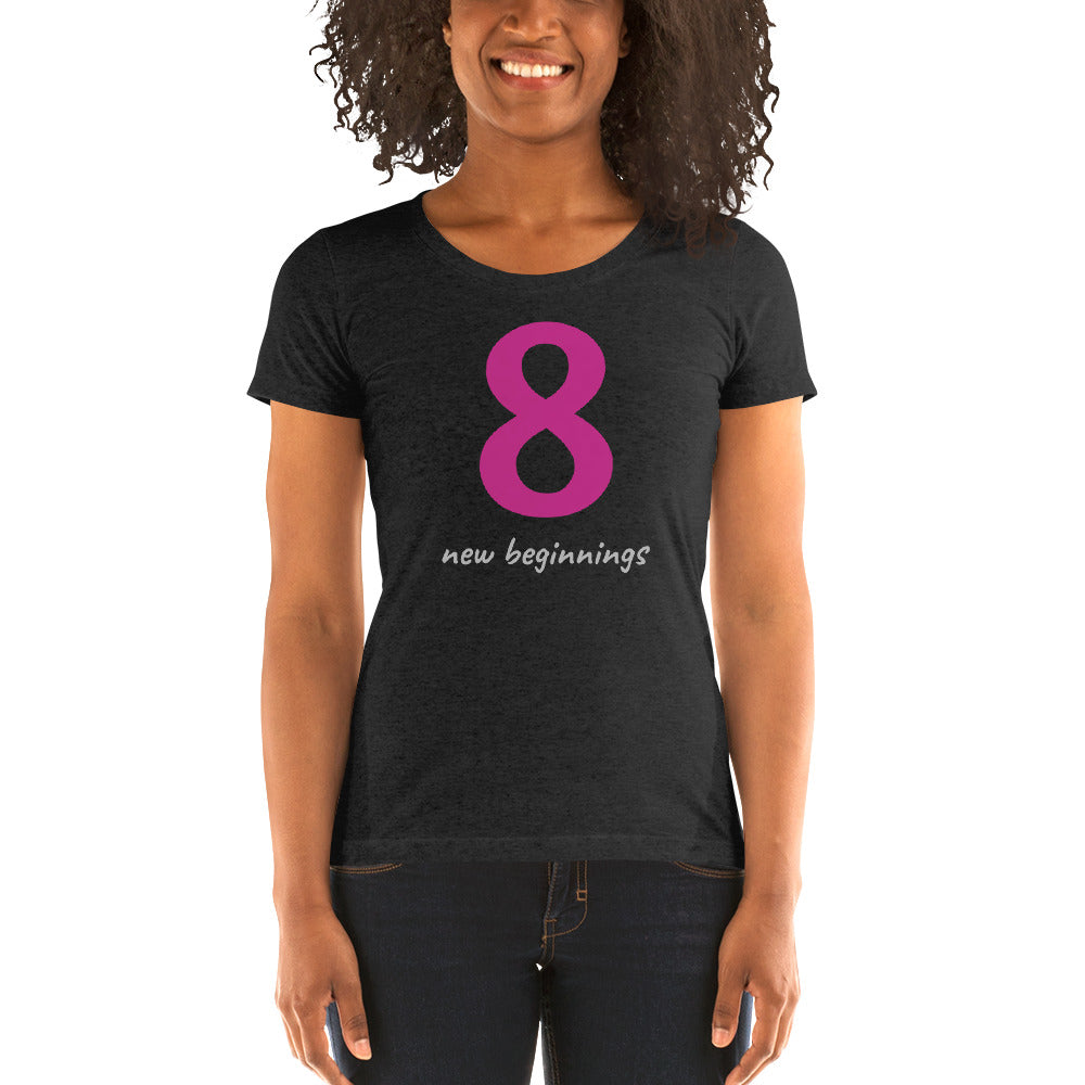 OFOX Ladies' Short Sleeve t-Shirt, 8, New Beginnings. Sizes run 1 size smaller.
