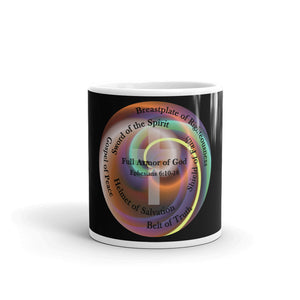 Coffee Cup. The Full Armor of God, Bible Verse Ephesians 6:11, Tea, Hot Chocolate, Coffee Cup