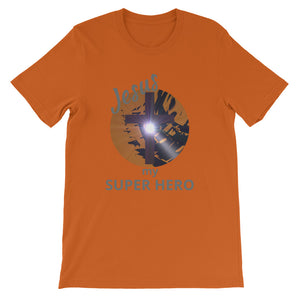 Jesus Super Hero Shirt. Short-Sleeve Unisex T-Shirt. Short-Sleeve Unisex T-Shirt