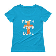 Load image into Gallery viewer, FHL Faith Hope Love Shirt. Ladies' Scoopneck T-Shirt