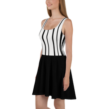 Load image into Gallery viewer, Skater Dress, Black and White Dress