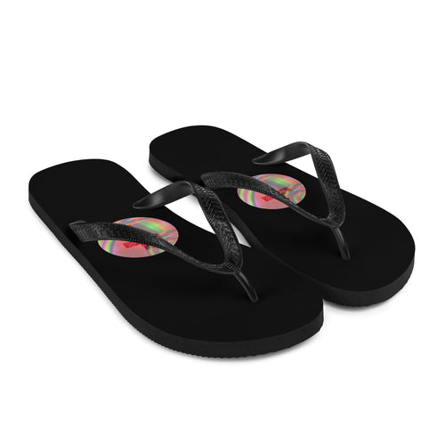 Flip-Flops, Colorful Cross on Flip Flops