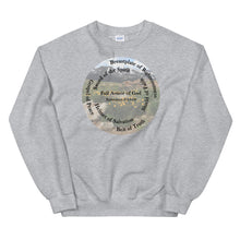 Load image into Gallery viewer, Sweatshirt, Whole Armor of God, Bible Verse Ephesians 6:10-18, Beautiful Bible Verse and Flowers Sweatshirt