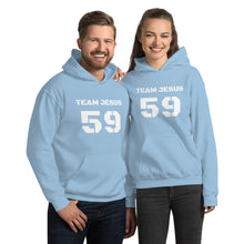 Load image into Gallery viewer, Team Jesus Sports Hoodie.  Classic  Vintage/Faded Text