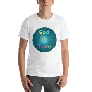 God is Love Shirt, 1 John 4:8 Scripture, Short-Sleeve Unisex T-Shirt