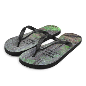 Flip-Flops with Scripture Bible Verse ~  Real Life Vibrant Photography ~ Custom OFOX Originals!