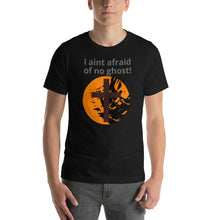 Load image into Gallery viewer, Religious / Halloween mix, I aint afraid of no ghost Shirt. Short-Sleeve Unisex T-Shirt.