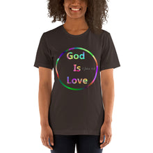 Load image into Gallery viewer, God is Love Shirt, 1 John 4:8 Scripture. Short-Sleeve Unisex T-Shirt