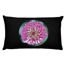 Load image into Gallery viewer, Basic Pillow, Pink Flower and Jesus - Pillow.