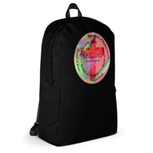 Backpack, •  Whole Armor of God, Bible Verse Ephesians 6:10-18, Beautiful Bible Verse, Cross and Flowers Back Pack.
