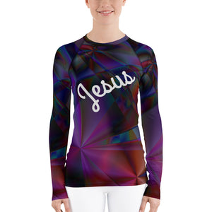 Stained Glass Women's Rash Guard
