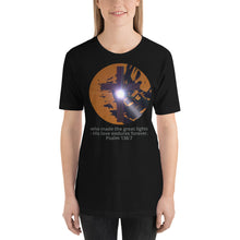 Load image into Gallery viewer, Shirt. Christian Religious Halloween Jesus is the light, Psalm 136:7, Shirt.