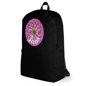 Backpack with Jesus Pink Flower, Backpack.