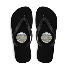 Load image into Gallery viewer, Flip-Flops, The Full Armor of God, Bible Verse Ephesians 6:11, Beautiful Bible Verse and Mountains Flip Flops.