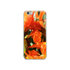 Tropical Orange Flower iPhone Case