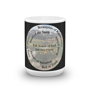 Full Armor of God Coffee Mug, Ephesians 6:10-18 Cup