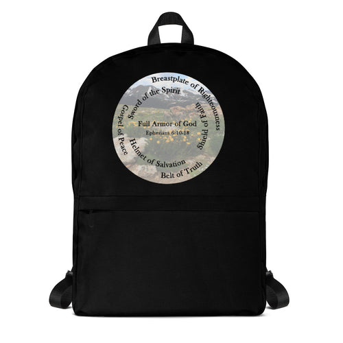 Backpack, •  Whole Armor of God, Bible Verse Ephesians 6:10-18, Beautiful Bible Verse and Backpack