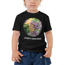 Load image into Gallery viewer, Toddler Short Sleeve Tee, New beginnings start with Jesus. Customize child's name