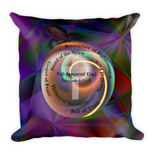Load image into Gallery viewer, Stained Glass and Cross Pillow. Premium Pillow