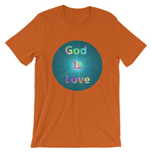 Load image into Gallery viewer, God is Love Shirt, 1 John 4:8 Scripture, Short-Sleeve Unisex T-Shirt