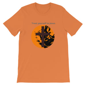 Christian Religious. Halloween, Treat yourself to Jesus, Shirt. Short-Sleeve Unisex T-Shirt.