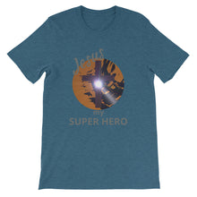 Load image into Gallery viewer, Jesus Super Hero Shirt. Short-Sleeve Unisex T-Shirt. Short-Sleeve Unisex T-Shirt