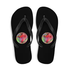 Load image into Gallery viewer, Flip-Flops, Whole Armor of God, Ephesians 6:10-18, Beautiful Bible Verse and Flowers Flip Flops