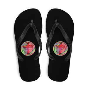 Flip-Flops, Whole Armor of God, Ephesians 6:10-18, Beautiful Bible Verse and Flowers Flip Flops