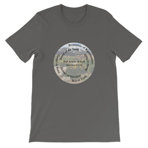 Short-Sleeve Unisex T-Shirt, • The Full Armor of God, Bible Verse Ephesians 6:11