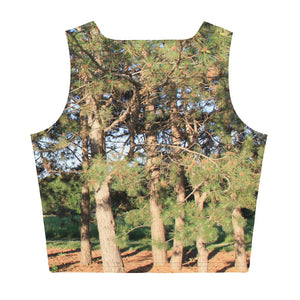 Sublimation Cut & Sew Crop Top, Pine Tree Top