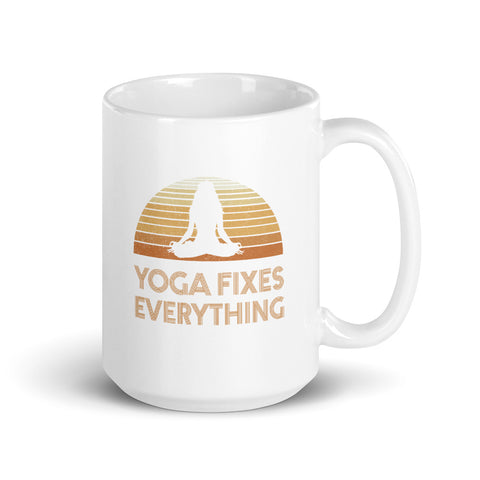 Yoga Fixes Everything Mug