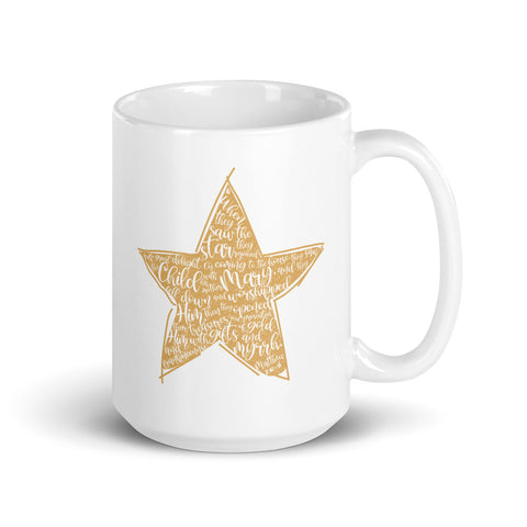 Christmas Star Matthew 2:10-11 15oz Mug