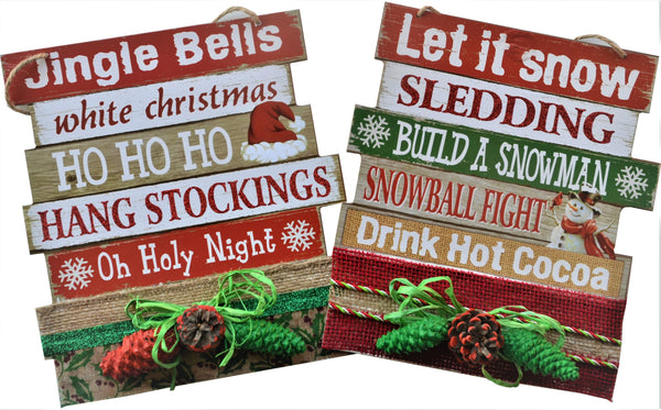 JINGLE BELLS 2019 Christmas Sign Large Vertical Board