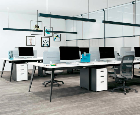V Shape Workstation (Black)