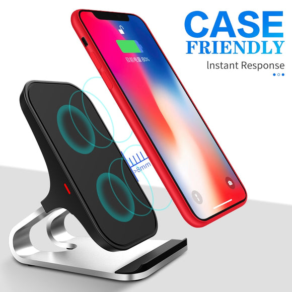 Qi Wireless Charger Intelligent Infrared Charging Car Phone Holder For iPhone Samsung
