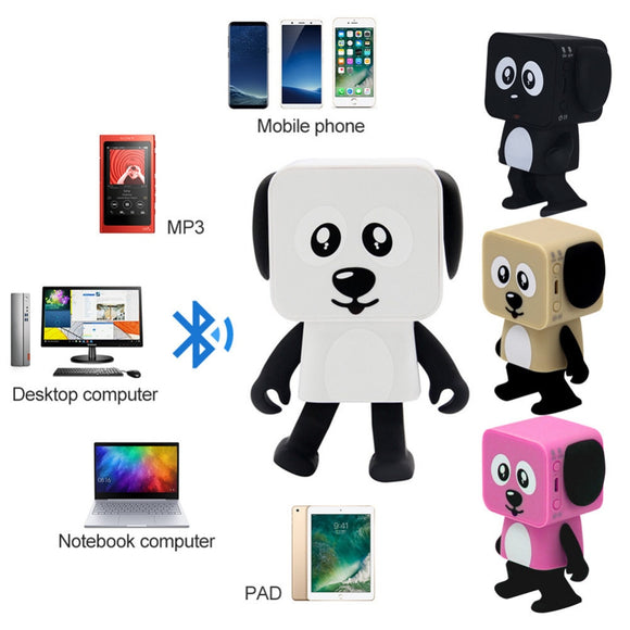 2018 New Multi-Function innovative Mini Smart Bluetooth Speakers Dancing Robot Dog for Smart Home Automation