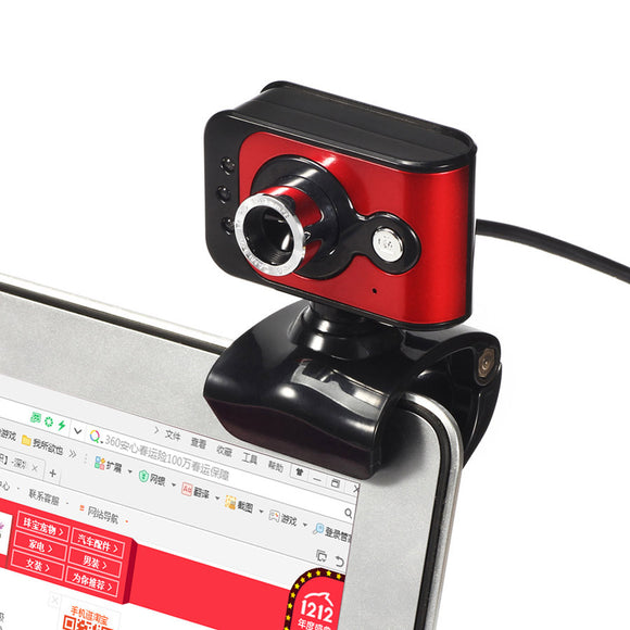 20MP USB Camera High Definition Webcam Computer PC Laptop 3 LED Built-in MIC Microphone Clip Web Cam for Youtube Msn Yahoo