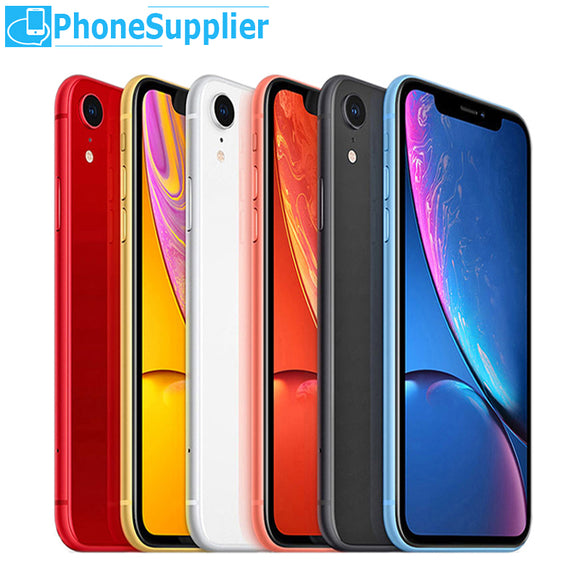 iPhone XR Unlocked 4G LTE Smartphone 6.1 inch Hexa-core 12MP Camera Face ID Bluetooth WiFi 64/128/256GB Phones