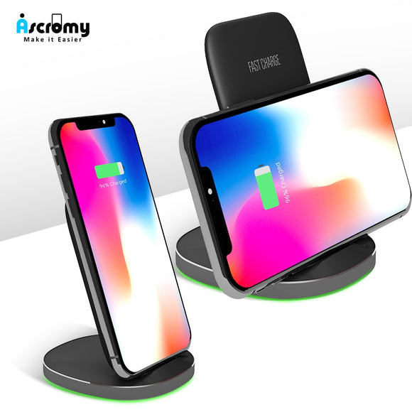 Wireless Qi Charging Dock Station Fast For iPhone Samsung