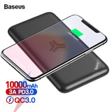 External Battery 18W Fast Wireless Charging Poverbank For iPhone Samsung Xiaomi