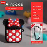 Earphone Case For AirPods Case Silicone Cute Love Heart Protective Cover For Apple Air pods 2 Headphone Earburd Case Ring Strap