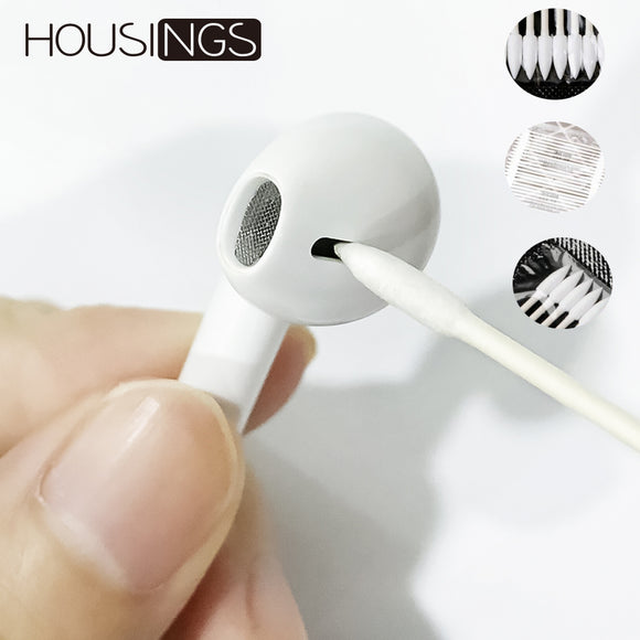 For Apple Airpods Accessories Cleaning Tool Cotton Stick For Airpods Case Earphones Wireless 25 Pcs Double Sided For Iphone Xr 7