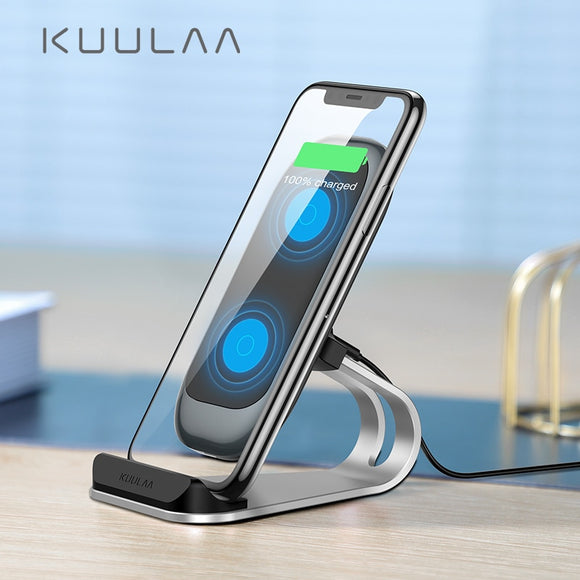 Qi Wireless Charging Dock Station for iPhone Samsung Xiaomi