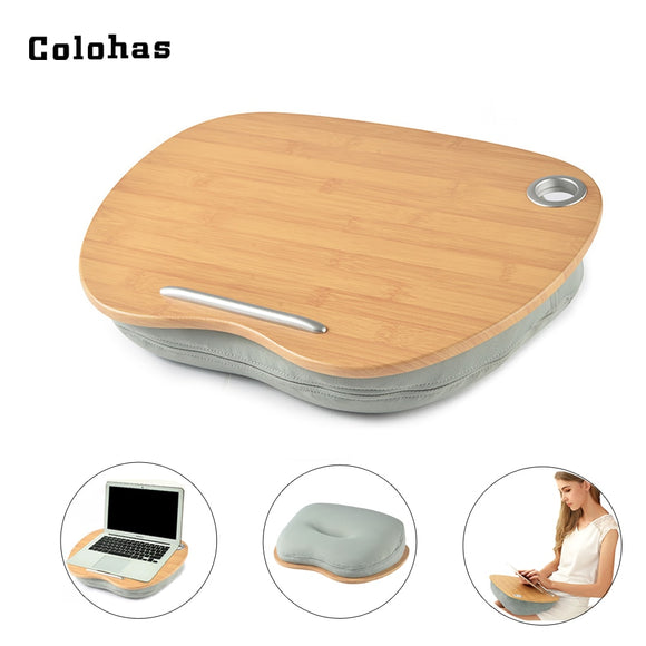 Multifunction Knee Table Laptop Desk for 14 inch Computer Tablet Phone Flip Portable Outdoor Headrest Office Nap Pillow