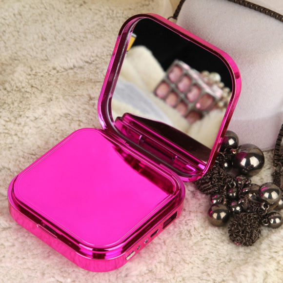 Makeup Mirror Power Bank Phone Charger External Battery Pack for Xiaomi Redmi iPhone