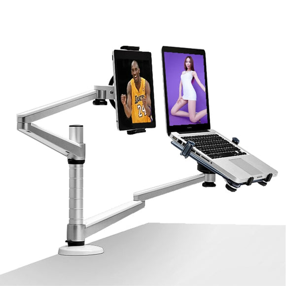 OA-9X Laptop Stand Aluminum Height Adjustable Lapdesks Universal Rotation Arm Holder for Notebook and 7-10 inch Tablet PC