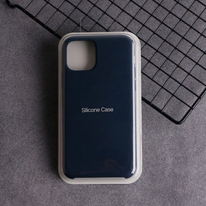 Official Logo Navy blue Phone Case For iPhone 11 Pro For iphone 7 8 Plus 6 6S Silicone Liquid Original Cover For iPhone XS Max XR X Cases